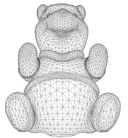 3D illusion led lamp teddy bear lies free vector download for laser engraving machines