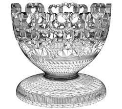 3D illusion led lamp the cup free vector download for laser engraving machines