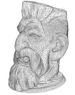 3D illusion led lamp the old man's head smokes free vector download for laser engraving machines