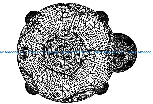 3D illusion led lamp turtle pen meeting free vector download for laser engraving machines