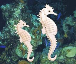 3D puzzle Sea Horse file cdr and dxf free vector download for Laser cut