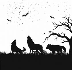 A picture of a wolf pack file cdr and dxf free vector download for Laser cut Plasma