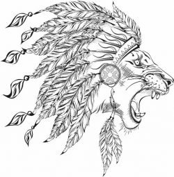 Aboriginal lion file cdr and dxf free vector download for laser engraving machines