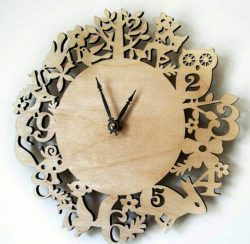 Animal wall clock file cdr and dxf free vector download for Laser cut