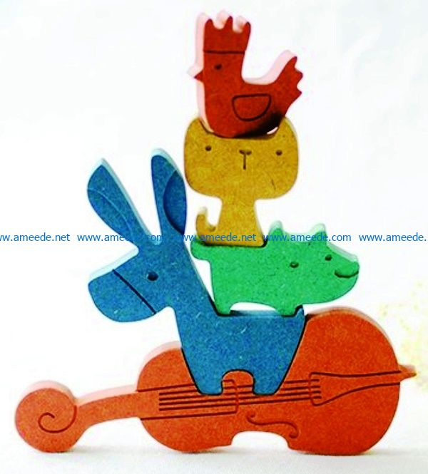 Animals and guitar file cdr and dxf free vector download for Laser cut