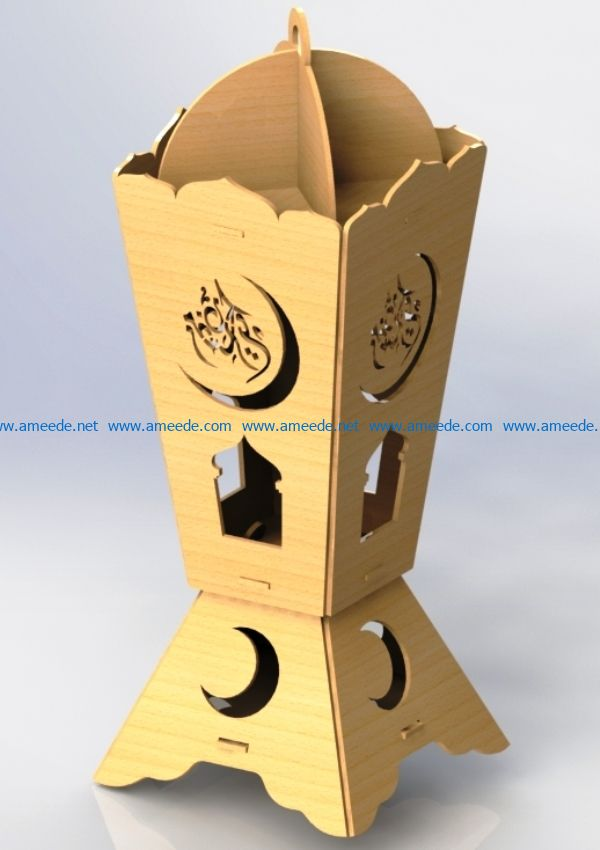 Arab light file cdr and dxf free vector download for Laser cut