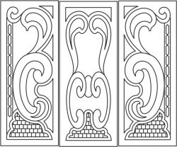 Arabic style wooden doors file cdr and dxf free vector download for CNC cut