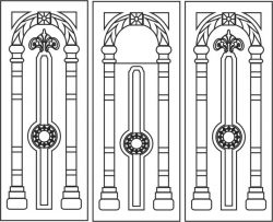 Arch vault door file cdr and dxf free vector download for Laser cut CNC