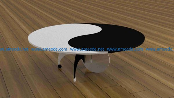 Bagua table file cdr and dxf free vector download for Laser cut