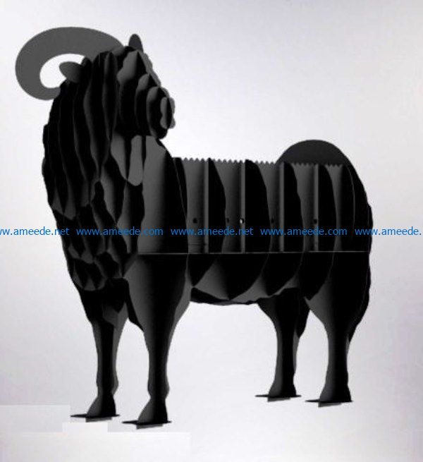 Barbecue ram file cdr and dxf free vector download for Laser cut Plasma