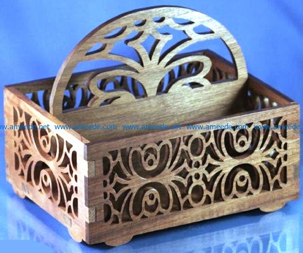 Basket file cdr and dxf free vector download for Laser cut CNC