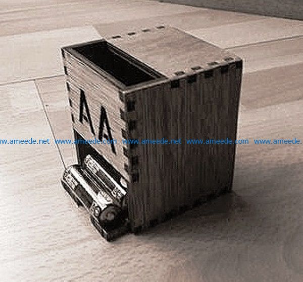 Battery box file cdr and dxf free vector download for Laser cut CNC