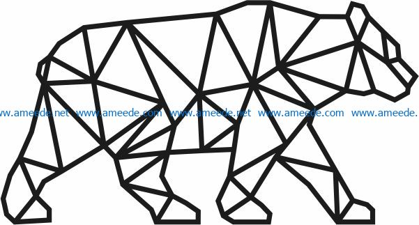 Bear murals file cdr and dxf free vector download for Laser cut Plasma file Decal