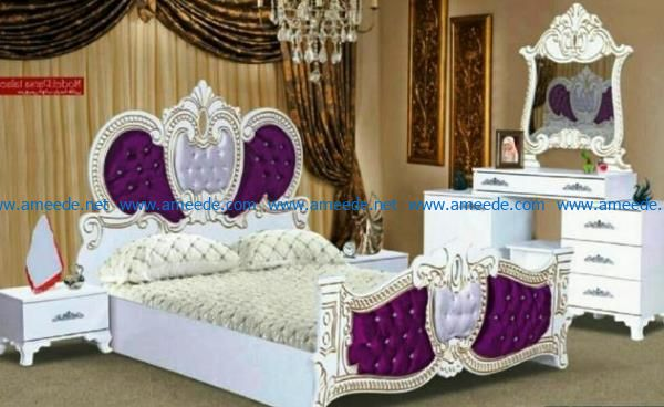 Bed design file cdr and dxf free vector download for Laser cut CNC