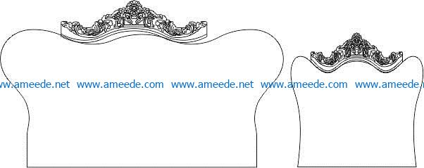Bedhead decoration pattern file cdr and dxf free vector download for CNC cut