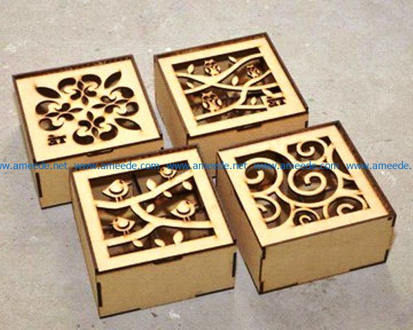 Bird and owl motifs box file cdr and dxf free vector download for Laser cut