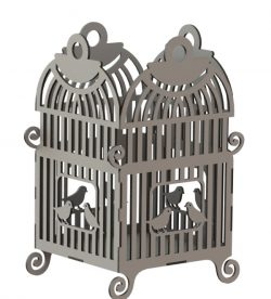 Bird cage file cdr and dxf free vector download for Laser cut