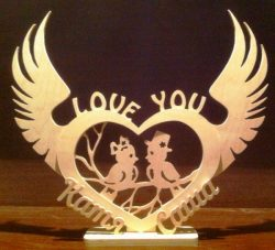 Bird in love file cdr and dxf free vector download for Laser cut