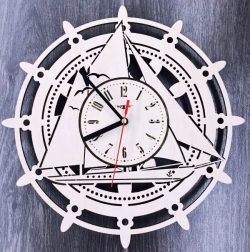 Boat wall clock file cdr and dxf free vector download for Laser cut
