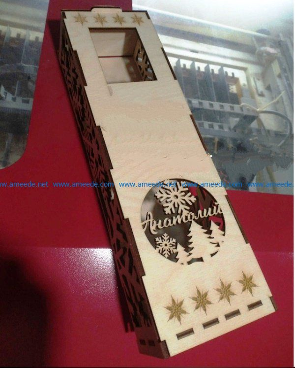 Box of champagne file cdr and dxf free vector download for Laser cut