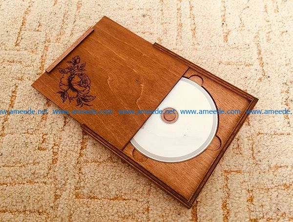 CD tray file cdr and dxf free vector download for Laser cut