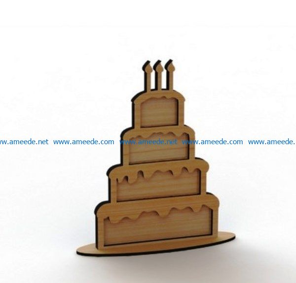 Cake wishes file cdr and dxf free vector download for Laser cut