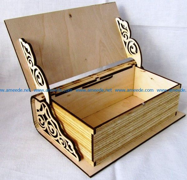 Casket book file cdr and dxf free vector download for Laser cut