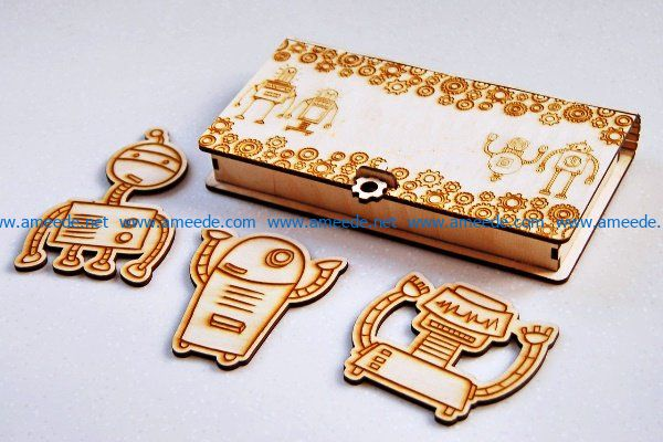 Casket robot file cdr and dxf free vector download for Laser cut
