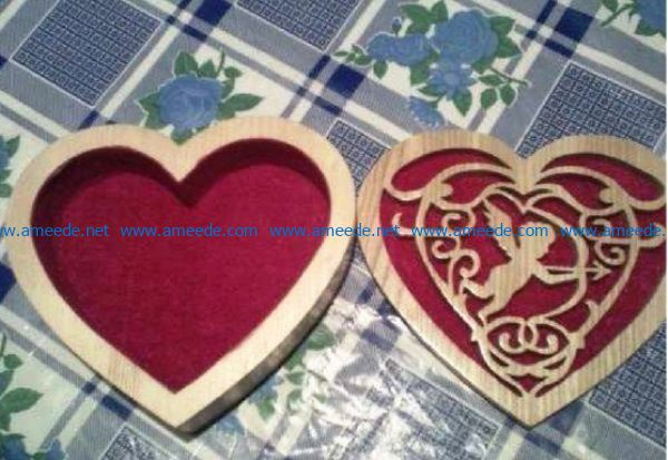Casket with Cupid file cdr and dxf free vector download for Laser cut