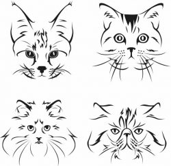 Cat and dog face file cdr and dxf free vector download for print or laser engraving machines