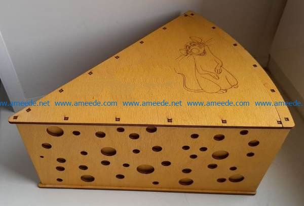 Cheese box file cdr and dxf free vector download for Laser cut