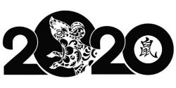 Chinese New Year Mouse file cdr and dxf free vector download for print or laser engraving machines