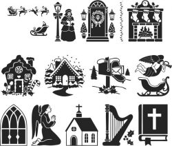 Christmas and lord file cdr and dxf free vector download for print or laser engraving machines