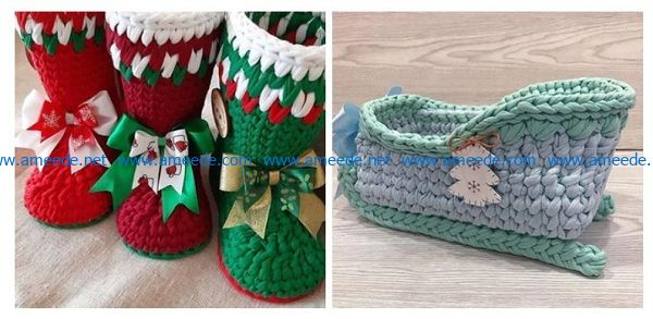 Christmas shoes file cdr and dxf free vector download for Laser cut