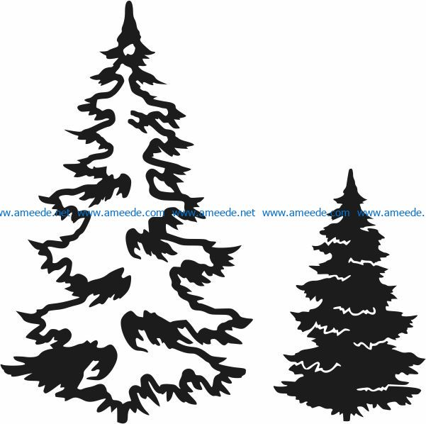 Christmas tree file cdr and dxf free vector download for Laser cut Plasma