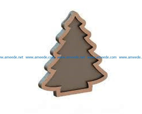 Christmas tree wish file cdr and dxf free vector download for Laser