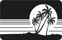Coconut tree picture file cdr and dxf free vector download for Laser cut Plasma