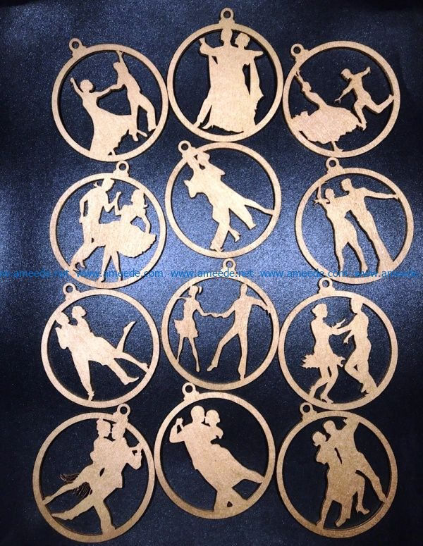 Couple dancing toy file cdr and dxf free vector download for Laser cut