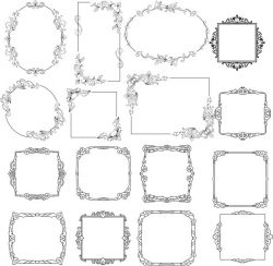 Creative decorative frame  file cdr and dxf free vector download for Laser cut CNC