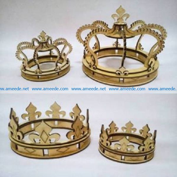 Crown file cdr and dxf free vector download for Laser cut