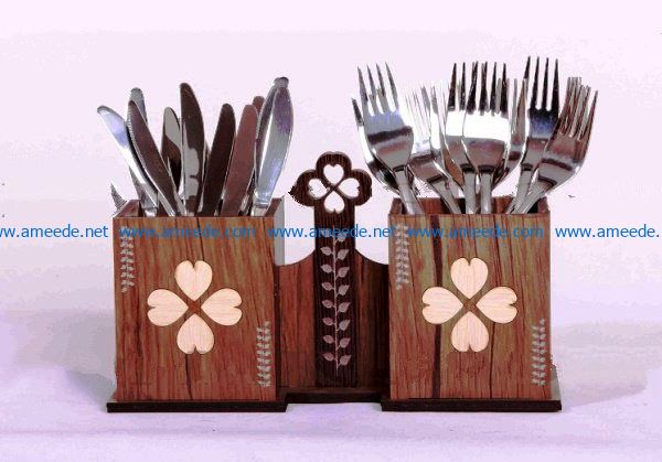 Cutlery Stand file cdr and dxf free vector download for Laser cut