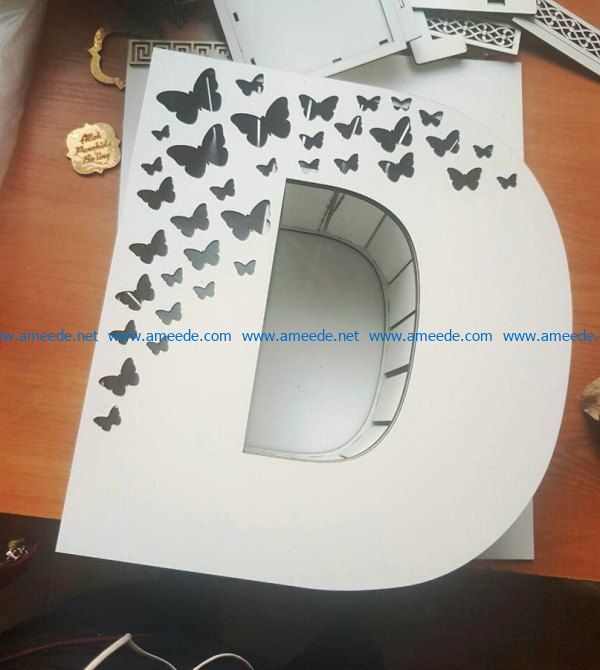 D-shaped box file cdr and dxf free vector download for Laser cut