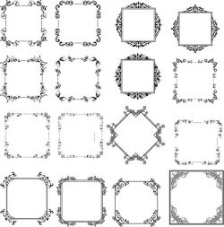 Decorative frame model file cdr and dxf free vector download for Laser cut CNC