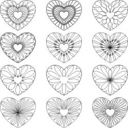 Decorative heart pattern file cdr and dxf free vector download for print or laser engraving machines