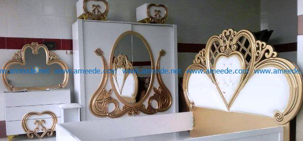 Decorative patterns of beds and mirrors file cdr and dxf free vector download for Laser cut CNC