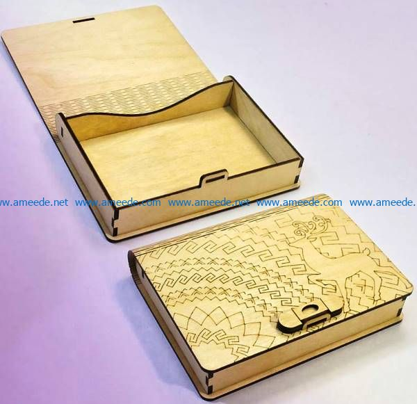 Deer box file cdr and dxf free vector download for Laser cut