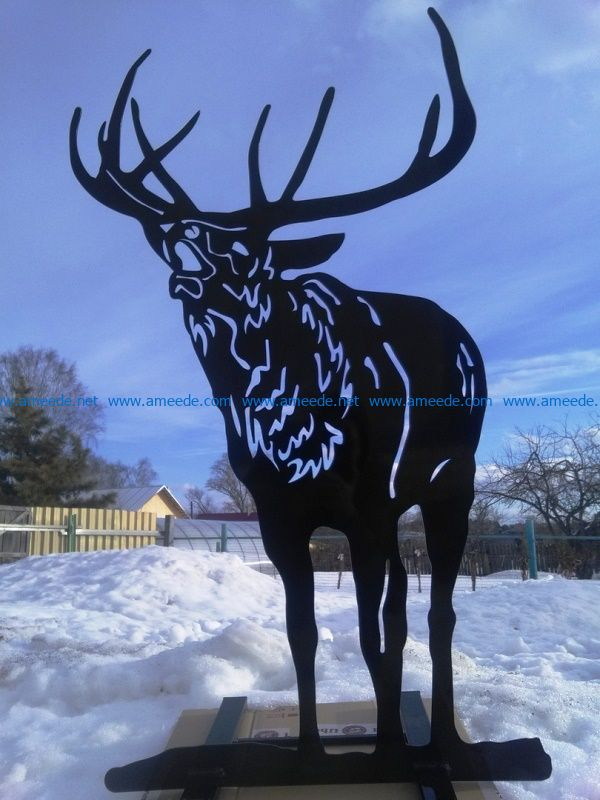 Deer file cdr and dxf free vector download for Laser cut Plasma