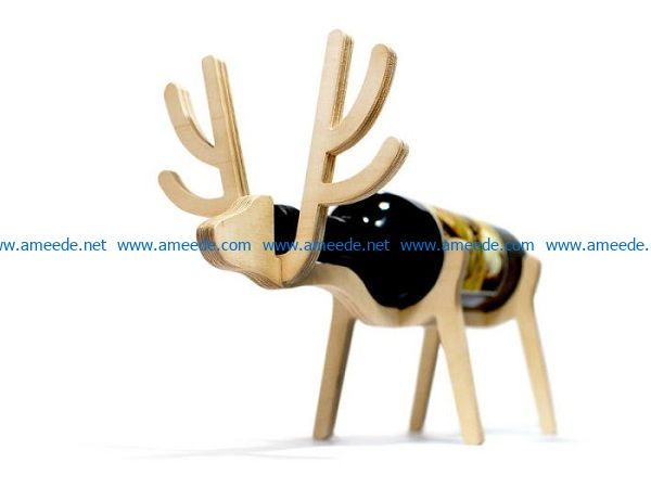 Deer wine rack file cdr and dxf free vector download for Laser cut