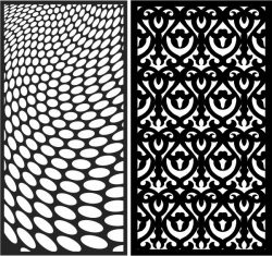 Design pattern panel screen E0007035 file cdr and dxf free vector download for Laser cut CNC