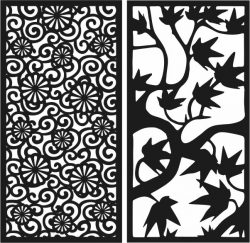 Design pattern panel screen E0007038 file cdr and dxf free vector download for Laser cut CNC